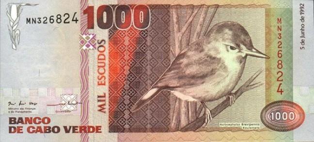 Эскудо кабо-верде. Купюра номиналом в 1000 CVE, аверс (лицевая сторона).