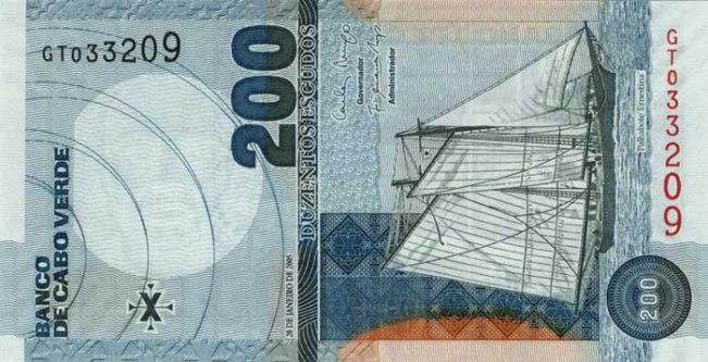 Эскудо кабо-верде. Купюра номиналом в 200 CVE, аверс (лицевая сторона).