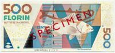 Арубанский флорин. Купюра номиналом в 500 AWG, аверс (лицевая сторона).