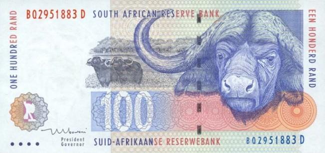 Южноафриканский рэнд. Купюра номиналом в 100 ZAR, аверс (лицевая сторона).