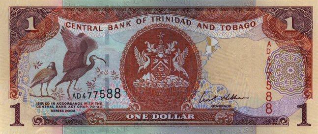 Доллар Тринидад и Тобаго. Купюра номиналом в 1 TTD, аверс (лицевая сторона).