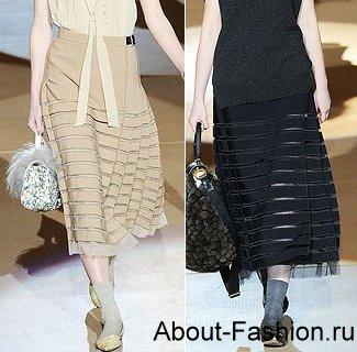 Именно такие модели юбок появились в некоторых модных коллекциях.