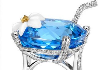Blue Hawaiian, из белого золота 18 карат со 121 бриллиантом круглой...
