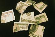 Доллар ушел в минус