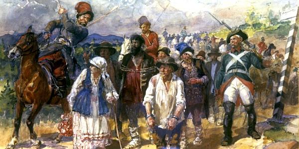 РИА Новости, репродукция картины Георгия Савицкого